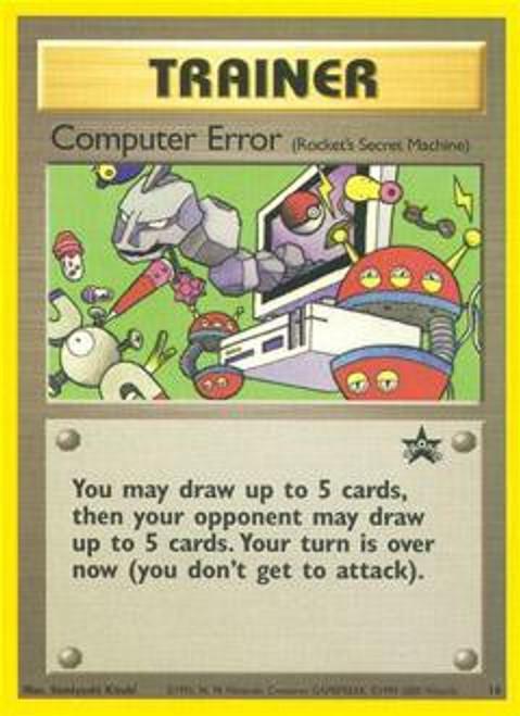 Pokemon Promo Cards WotC Promo Computer Error #16