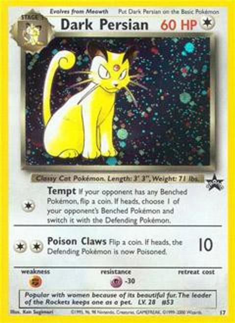 Pokemon Promo Cards WotC Promo Dark Persian #17