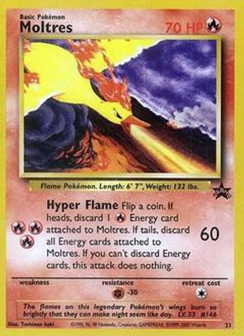 Pokemon Promo Cards WotC Promo Moltres #21