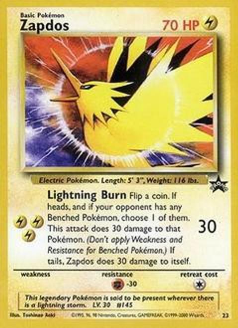 Pokemon Promo Cards WotC Promo Zapdos #23