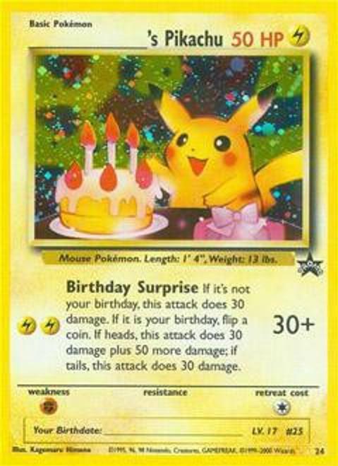 Pokemon Promo Cards WotC Promo ___________'s Pikachu #24