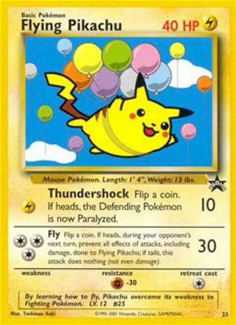 Pokemon Promo Cards WotC Promo Flying Pikachu #25