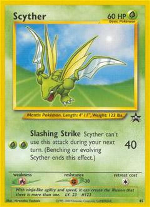 Pokemon Promo Cards WotC Promo Scyther #45