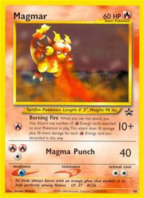 Pokemon Promo Cards WotC Promo Magmar #44