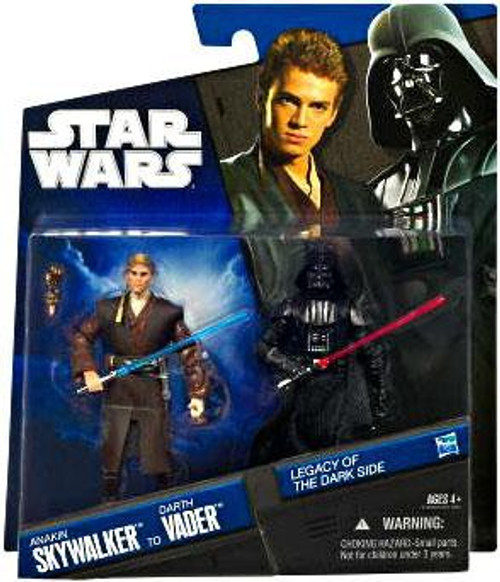 Star Wars Expanded Universe Legacy of the Darkside 2010 Anakin Skywalker to Darth Vader Exclusive Action Figure 2-Pack