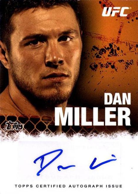 Topps UFC 2010 Championship Dan Miller Autograph Card FA-DM