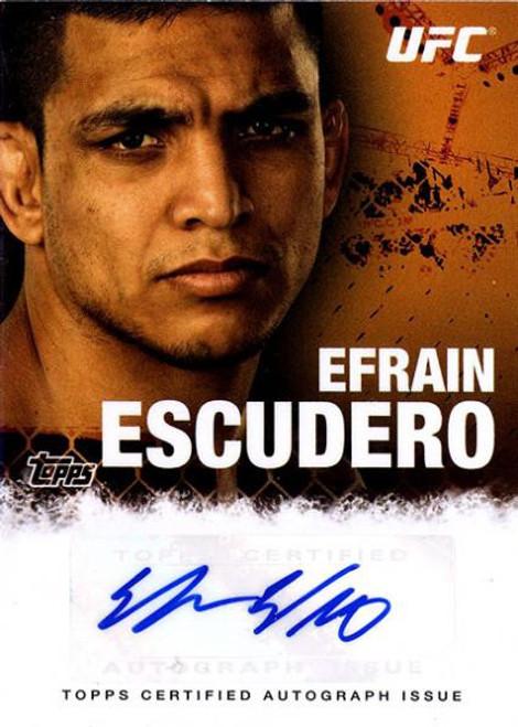 Topps UFC 2010 Championship Efrain Escudero Autograph Card FA-EE