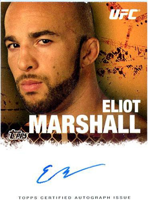 Topps UFC 2010 Championship Elliot Marshal Autograph Card FA-EM