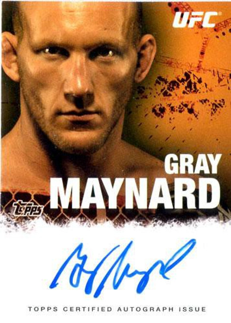 Topps UFC 2010 Championship Gray Maynard Autograph Card FA-GM