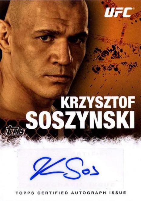 Topps UFC 2010 Championship Krzysztof Sosynski Autograph Card FA-KS