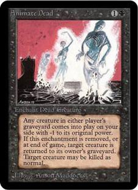 MtG Alpha Uncommon Animate Dead [Played Condition]