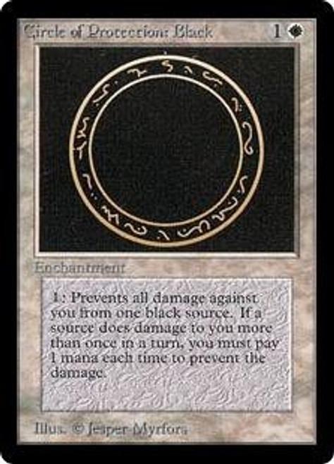 MtG Beta Common Circle of Protection: Black