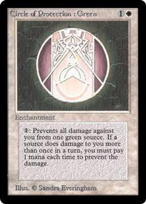 MtG Beta Common Circle of Protection: Green