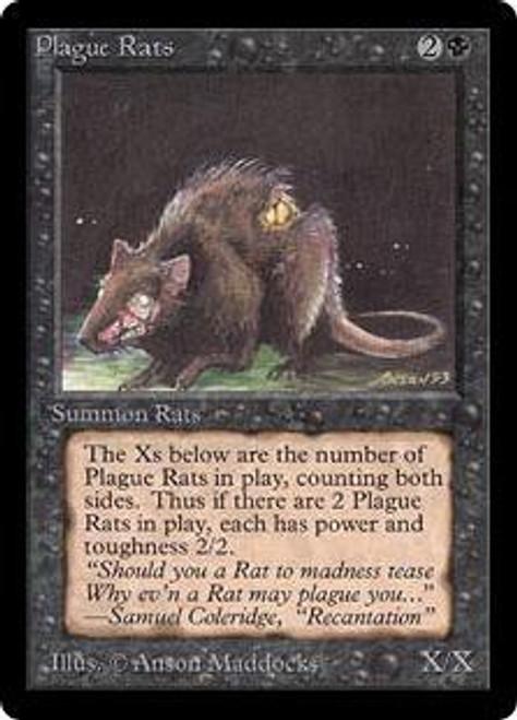 MtG Beta Common Plague Rats