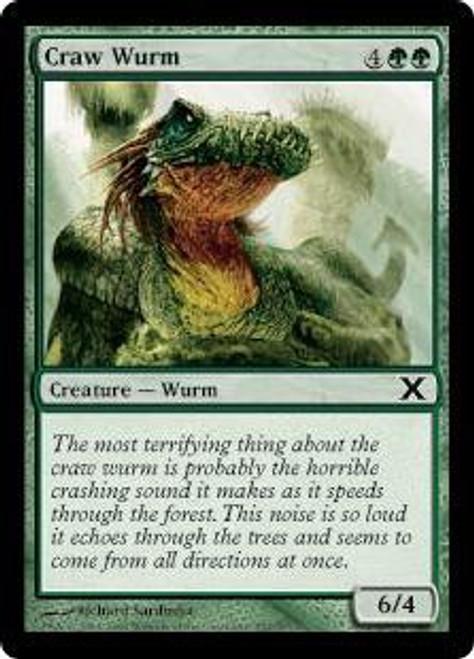 MtG 10th Edition Common Craw Wurm #257
