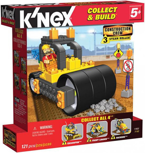 K'Nex Construction Crew Steam Roller Set #11563