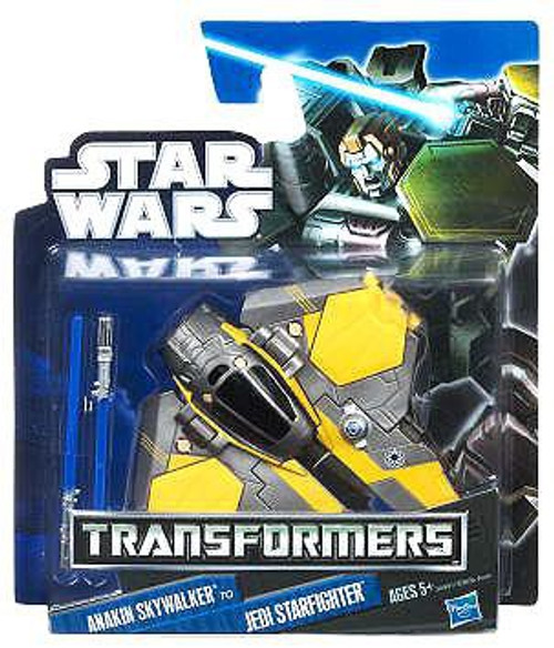 Star Wars Revenge of the Sith Transformers 2012 Class I Anakin Skywalker to Jedi Starfighter Action Figure