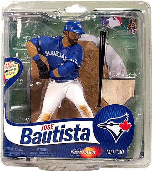 McFarlane Toys MLB Toronto Blue Jays Sports Picks Collectors Club Exclusive Jose Bautista Exclusive Action Figure [Blue Jersey]