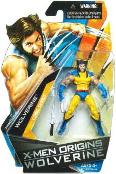 X-Men Origins Wolverine Comic Series Wolverine Action Figure [Blue & Yellow Suit, No Mask]