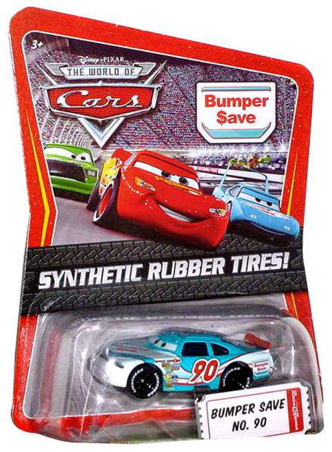 Disney / Pixar Cars The World of Cars Synthetic Rubber Tires Bumper Save No. 90 Exclusive Diecast Car