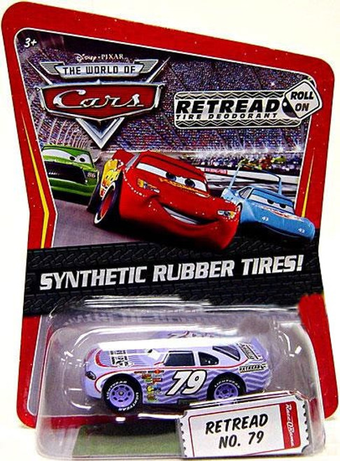 Disney / Pixar Cars The World of Cars Synthetic Rubber Tires Retread No. 79 Exclusive Diecast Car