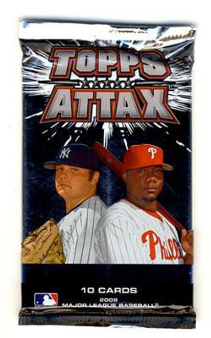 MLB Trading Card Game 2009 Attax Baseball Booster Pack