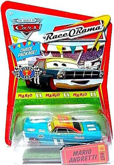 Disney / Pixar Cars The World of Cars Race-O-Rama Mario Andretti with Red Rims Diecast Car #97