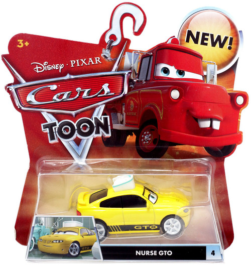 Disney / Pixar Cars Cars Toon Main Series Nurse GTO Diecast Car #4