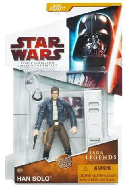 Star Wars The Empire Strikes Back 2009 Legacy Collection Saga Legends Han Solo Action Figure SL16 [Asteroid Exploration]