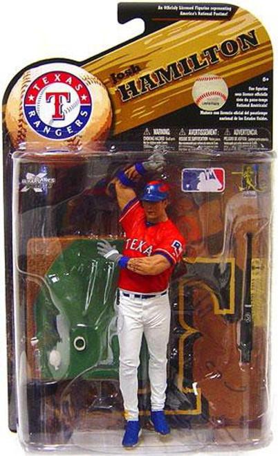 McFarlane Toys MLB Texas Rangers Sports Picks Series 25 Josh Hamilton Action Figure [Red Jersey Variant]