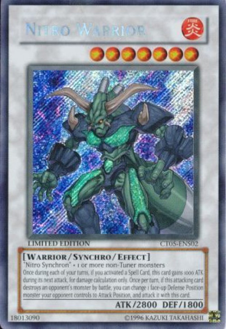 YuGiOh YuGiOh 5D's 2008 Holiday Tin Secret Rare Nitro Warrior CT05-ENS02