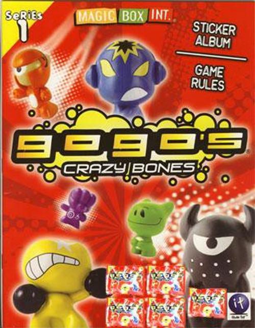 Crazy Bones Gogo's Series 1 Sticker Album [5 Booster Pack]