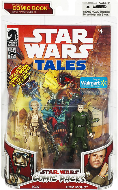 Star Wars Expanded Universe 2009 Comic Packs IG97 & Rom Mohc Exclusive Action Figure 2-Pack #4