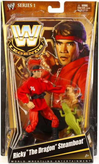 """WWE Wrestling Legends Series 1 Ricky """"The Dragon"""" Steamboat Action Figure"""