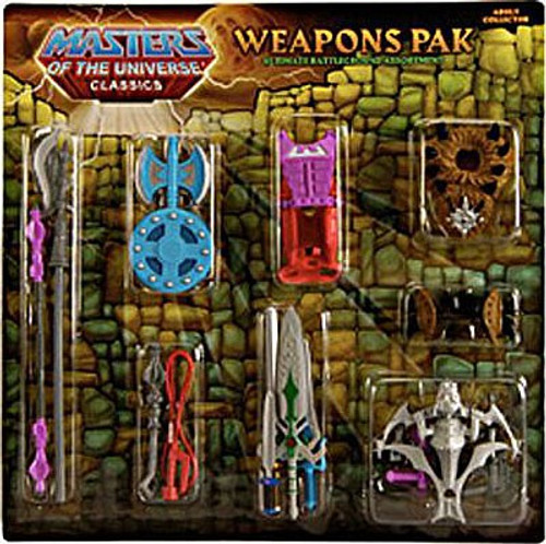 Masters of the Universe Classics Club Eternia Ultimate Battle Ground Exclusive Action Figure Weapons Pak