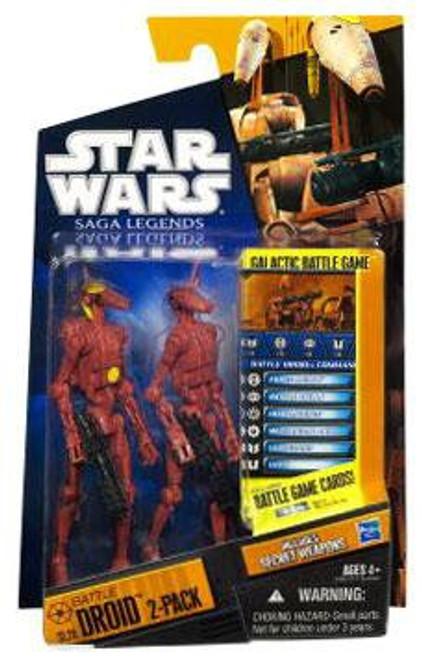 Star Wars Attack of the Clones Saga Legends 2010 Battle Droids Action Figure 2-Pack SL20