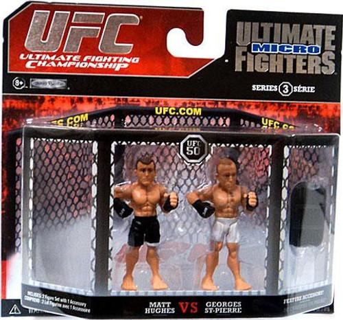 UFC Ultimate Micro Fighters Series 3 Matt Hughes vs. Georges St. Pierre Mini Figure 2-Pack [UFC 50]