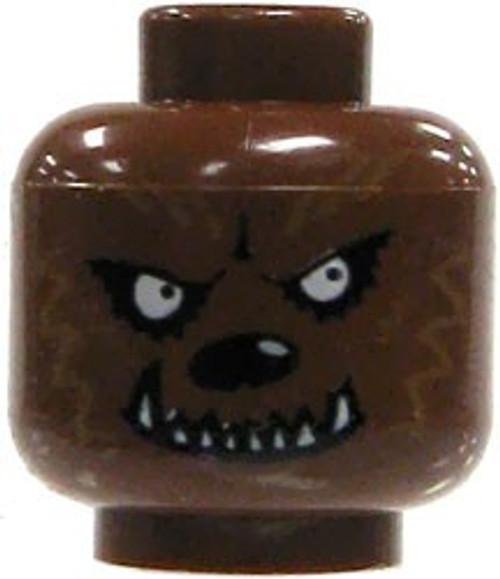 Dark Brown Werewolf Minifigure Head [Loose]