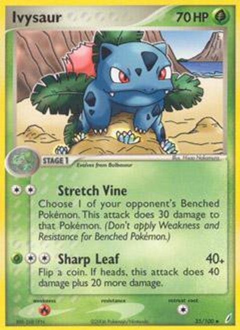 Pokemon EX Crystal Guardians Uncommon Ivysaur #35
