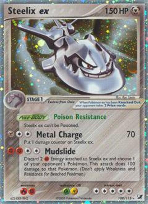 Pokemon Unseen Forces Ultra Rare Steelix ex #109