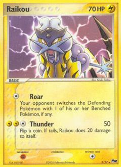 Pokemon Trading Card Game Organized Play Series 2 Rare Raikou #3