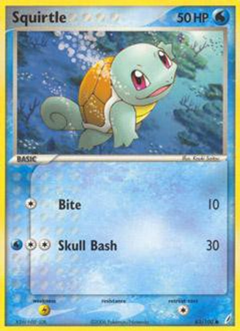 Pokemon EX Crystal Guardians Common Squirtle #63