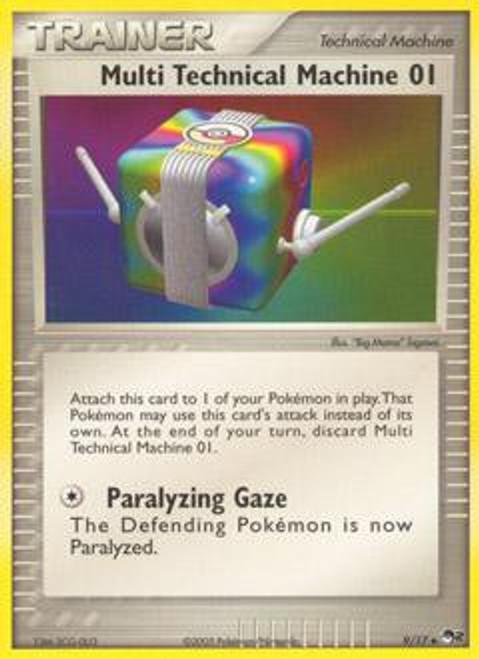 Pokemon Trading Card Game Organized Play Series 2 Uncommon Multi Technical Machine 01 #9