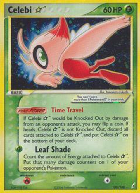 Pokemon EX Crystal Guardians Ultra Rare Celebi * #100