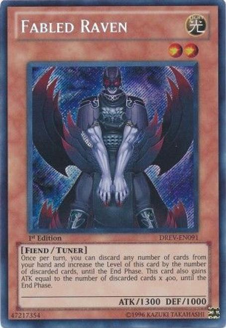 YuGiOh 5D's Duelist Revolution Secret Rare Fabled Raven DREV-EN091