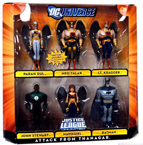 DC Universe Justice League Unlimited Attack From Thanagar Exclusive Action Figure Set