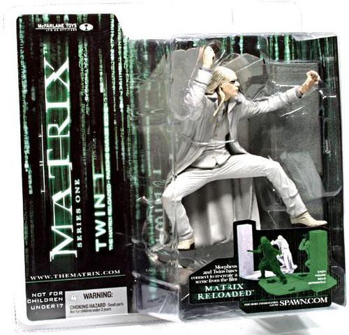 McFarlane Toys The Matrix Matrix Reloaded Twin 1 Action Figure