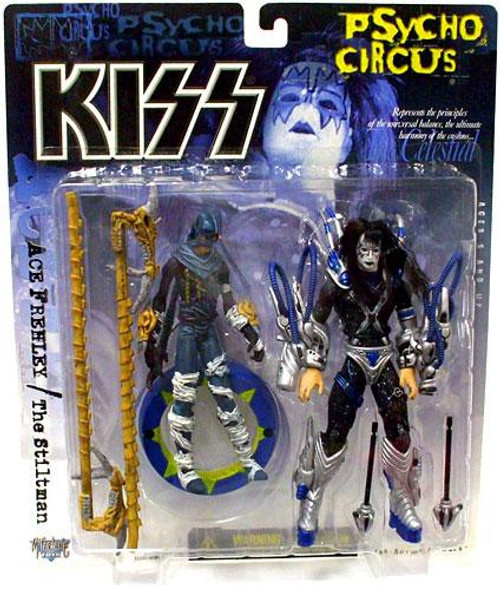 McFarlane Toys KISS Psycho Circus Ace Frehley & The Stiltman Action Figure 2-Pack