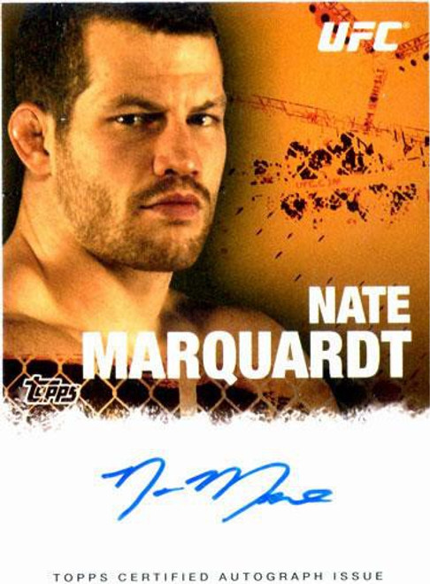 Topps UFC 2010 Championship Nate Marquardt Autograph Card FA-NM