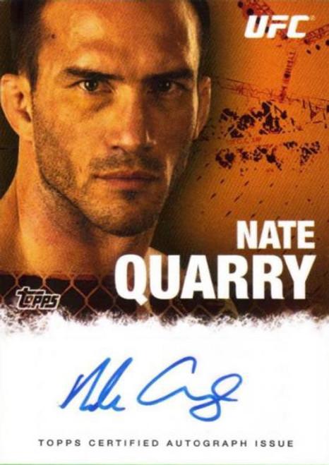 Topps UFC 2010 Championship Nate Quarry Autograph Card FA-NQ